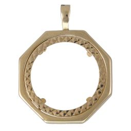 Pre-Owned 9ct Yellow Gold Coin Mount Pendant