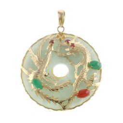 Pre-Owned 14ct Yellow Gold Gemstone Pendant - 9G