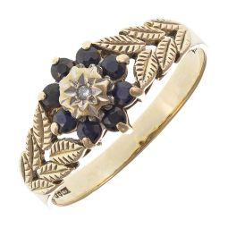 Pre-Owned 9ct Yellow Gold Cluster Ring