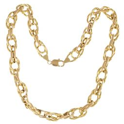 Pre-owned 18ct Yellow Gold Large Fancy Chain - 19 Inches - 30g