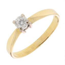 Pre-Owned 18ct Yellow Gold Solitaire Ring
