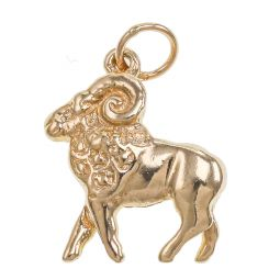 Pre-owned 9ct Gold Aries Zodiac Sign Pendant