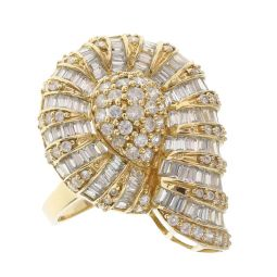Pre-owned 18ct Yellow Gold Cocktail Ring - 9g - Size O 1/2