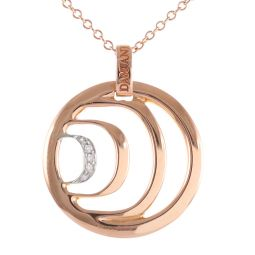 Pre-owned 18ct Rose Gold Damiani Diamond Necklace