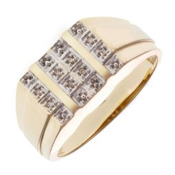 Pre-Owned 9ct Yellow Gold Diamond Signet Ring