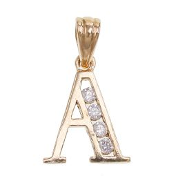 Pre-owned 9ct Gold Letter A Pendant