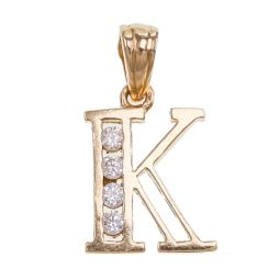 Pre-owned 9ct Gold Letter K Pendant