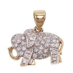 Pre-owned 9ct Gold Elephant Pendant