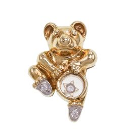 Pre-owned 9ct Gold Drop Bear Pendant
