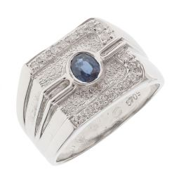 Pre-owned 18ct White Gold Pinky Ring - 10g - Size Q
