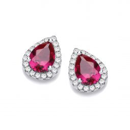 Stud Silver Earrings Set With CZs