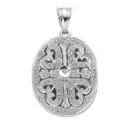 9ct White Gold and 0.3cts Diamond Locket