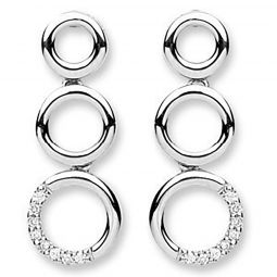 9ct White Gold 0.08ct Diamond Drop Earrings