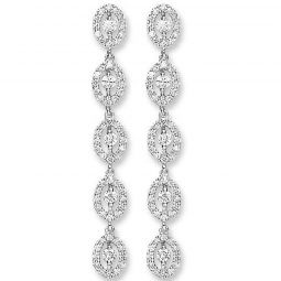 18ct White Gold 1.25cts Diamond Drop Earrings