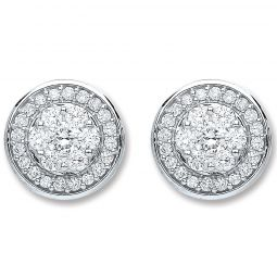 18ct White Gold And 0.50cts Diamond Stud Earrings