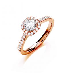 18ct Rose Gold 0.80cts Certificated Diamond Engagement Ring