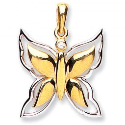 9ct Gold Butterfly Pendant