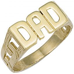 9ct Yellow Gold Dad Ring