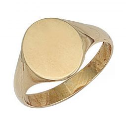 9ct Yellow Gold Signet Ring 12 x 13mm