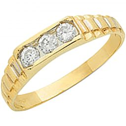 9ct Yellow Gold Cz Baby Ring