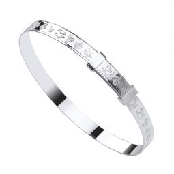 Silver Expandable Baby Bangle