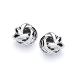 Silver Knot Studs 11.5mm