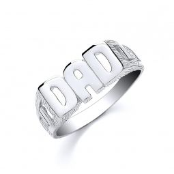 Silver DAD ID Ring