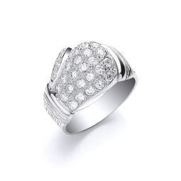 Silver Cz Boxing Glove Gents Ring