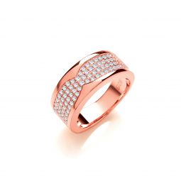 Silver RG Coated Cz Ring