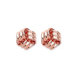 9ct Rose Gold Knot Studs 7.5mm