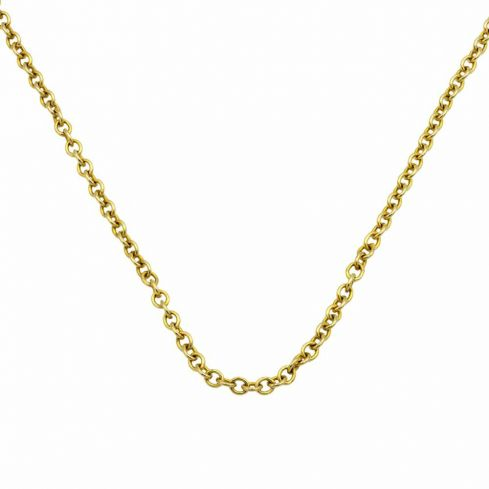 18ct Yellow Gold Roller Chain 2mm