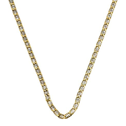Pre-owned 18ct Yellow And White Gold Chain