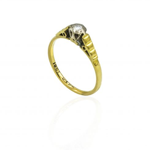 Pre-owned 18ct Yellow Gold Ring With Diamond