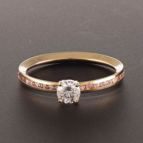 Pre-Owned 18ct Yellow Gold Gemstone Ring  - 1.2g Cubic Zirconia Gold