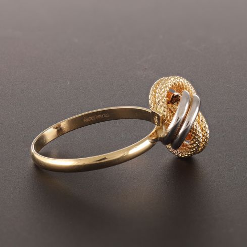Pre-Owned 18ct Yellow Gold Knot Ring  - 1.8g Gold