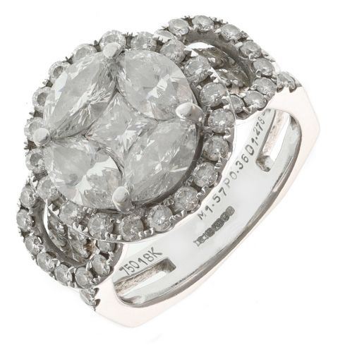 Pre-Owned 18ct Gold Diamond Ring - 9g  Diamond Gold
