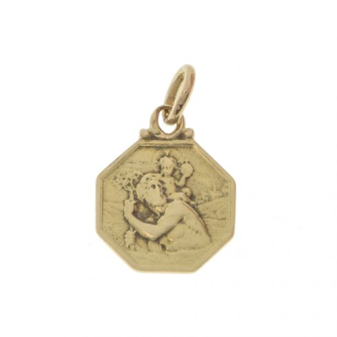 Pre-owned 9ct Gold  St. Christopher Pendant  Gold