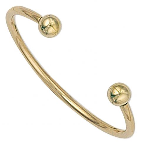 9ct Yellow Gold Torque Baby Bangle 1.9mm Gold