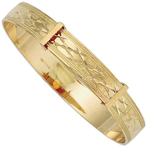9ct Yellow Gold 7.0mm Bangle For A Child Gold