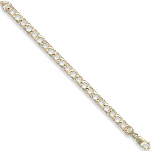 9ct Yellow Gold Curb Bracelet 5mm