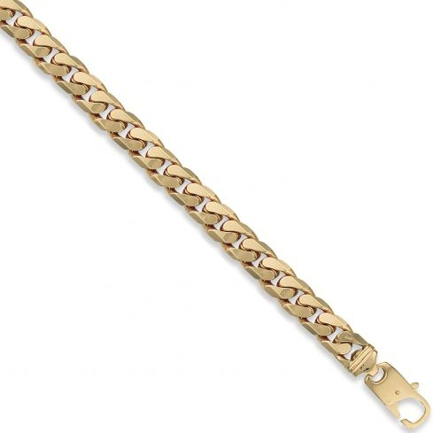 9ct Yellow Gold Curb Bracelet 11mm