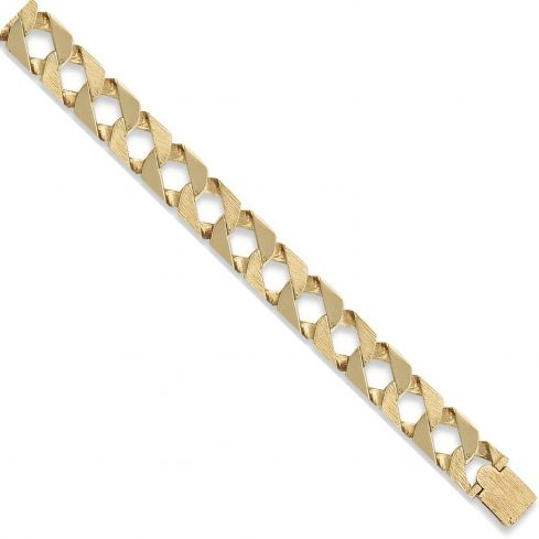 9ct Yellow Gold Curb Bracelet 18mm