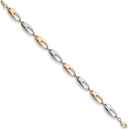 9ct White And Yellow Gold Fancy Bracelet