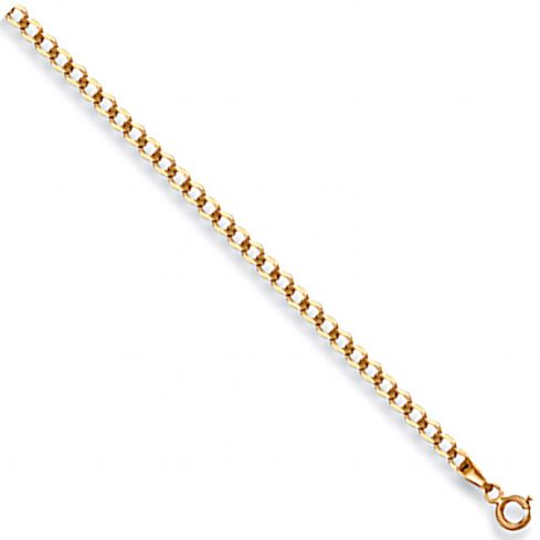9ct Yellow Gold 3mm Curb Chain