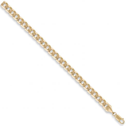 9ct Yellow Gold 7mm Curb Chain