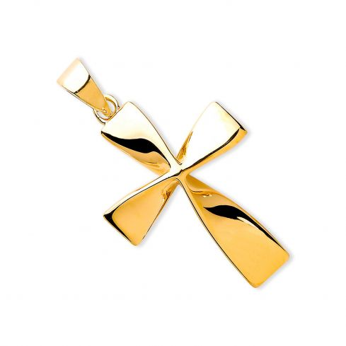 9ct Yellow Gold Twisted Cross Gold