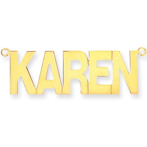 9ct Gold Golde Block Style Name Necklace