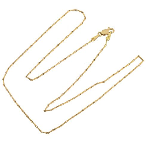 Pre-owned 18ct Gold Barleycorn Chain - 16 inches Gold