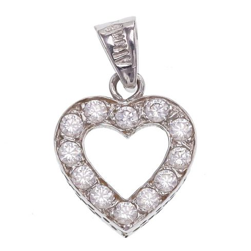 Pre-owned 14ct Gold Heart Pendant Cubic Zirconia Gold
