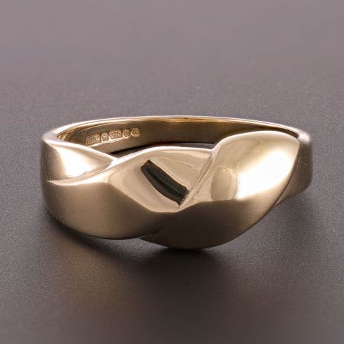 Pre-Owned 9ct Yellow Gold Fancy Abstract Ring Gold